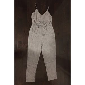 Gray jumpsuit from Dynamite